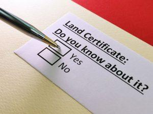 land certificate surveyors near location